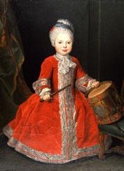 Louis de Silvestre: Kinderbildnis Prinz Xavers, Privatbesitz, Foto G. Andretti