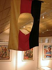 Wende-Fahne in unserer ständigen Ausstellung 1995 - 2005